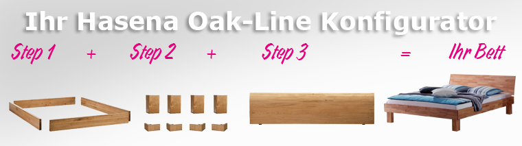 Oak-Line Bettrahmen