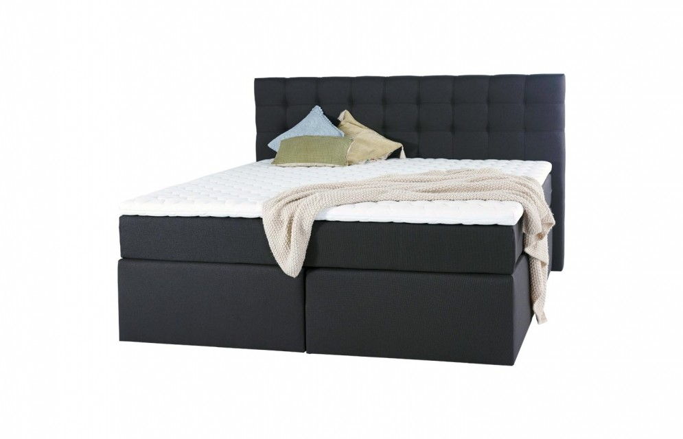 king boxspringbett mit 7 zonen taschenfederkernmatratze und matratzentopper. Black Bedroom Furniture Sets. Home Design Ideas
