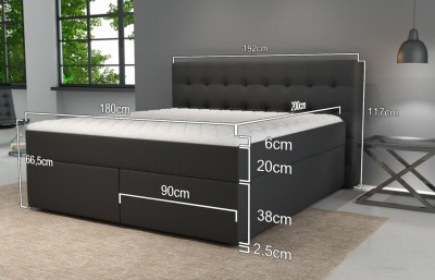Boxspringbett King mit Bettkasten