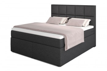Dream Boxspringbett mit TFK-Matratze und Topper in 180/200 cm in H3  mit Viscoschaum-Topper in Anthrazit