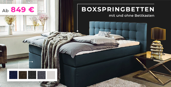 boxspringbetten bettgestelle matratzen und mehr betten jumbo. Black Bedroom Furniture Sets. Home Design Ideas